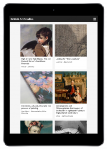 British Art Studies displayed on an ipad