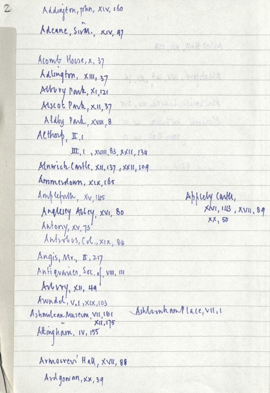 Page of handwritten text in blue ink