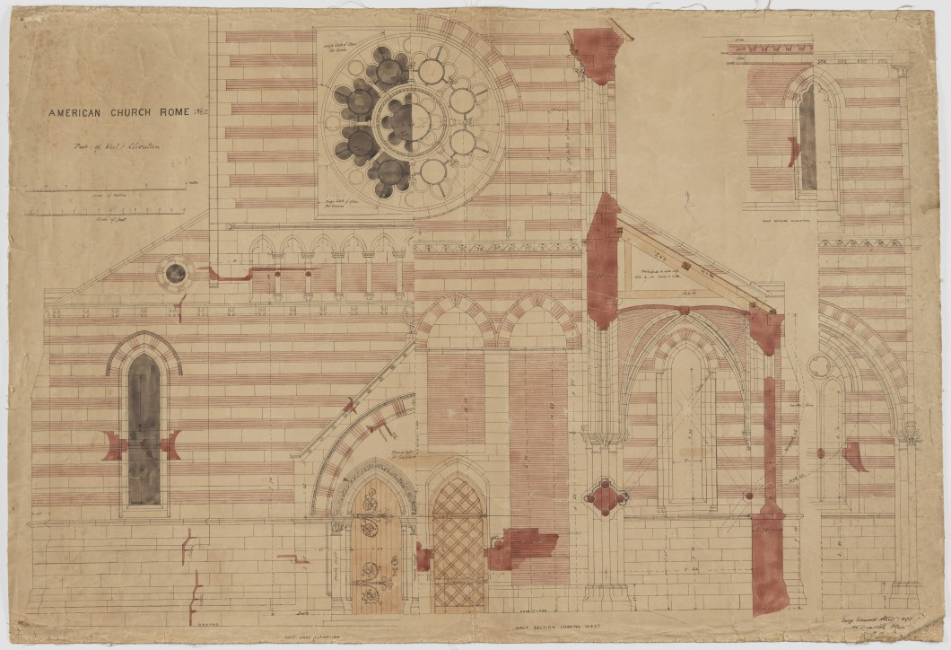 ca. 1872–1880, colour ink on tracing paper backed onto cloth, 98.5 x 67 cm. Collection of the Paul Mellon Centre, Paul Joyce Archive (Ref: PRJ/4/12/1).
