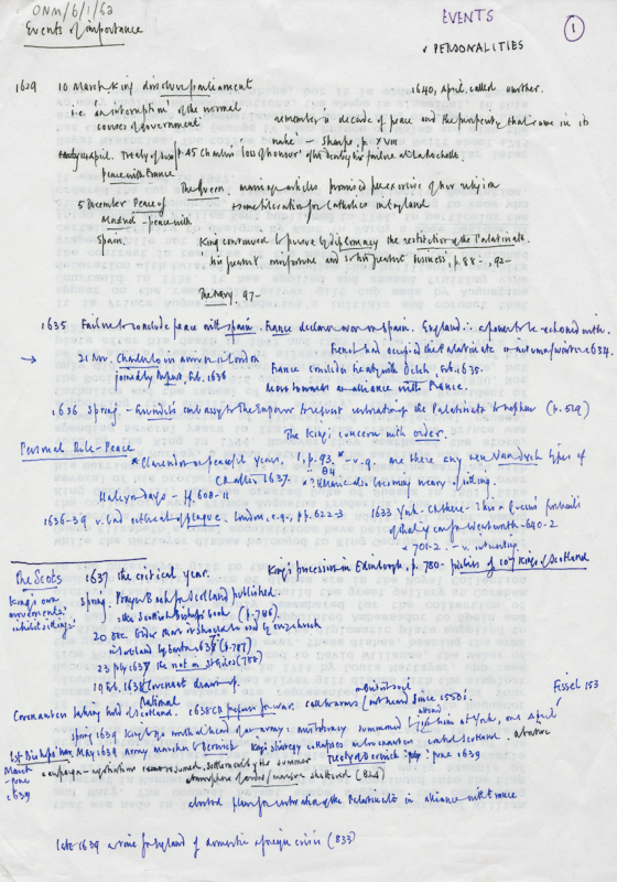 Page of text in black and blue ink handwritten