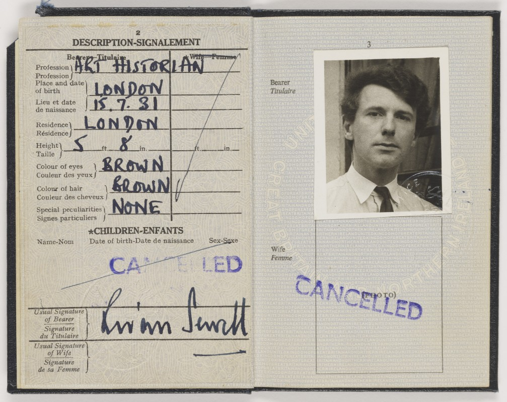Cancelled passport belonging to Brian Sewell