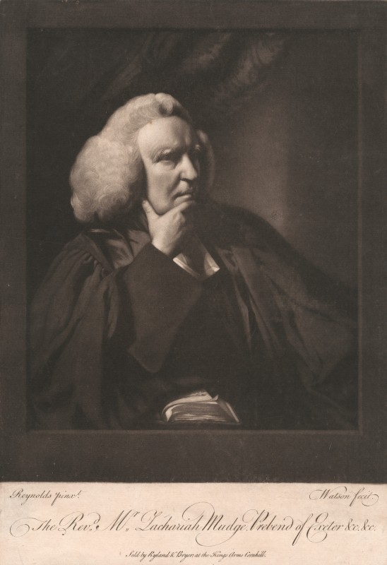 The Rev. Mr. Zachariah Mudge, Prebend of Exeter