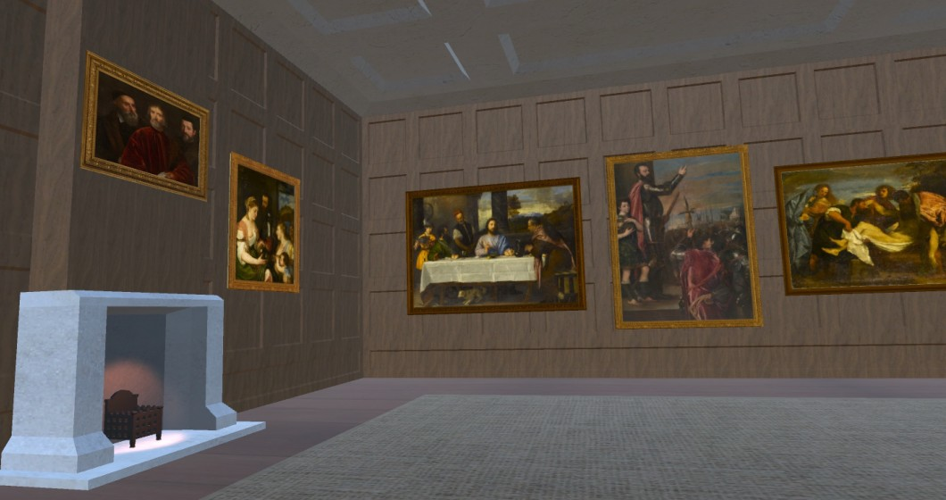 Digital recreation of interior of Whitehall Palace