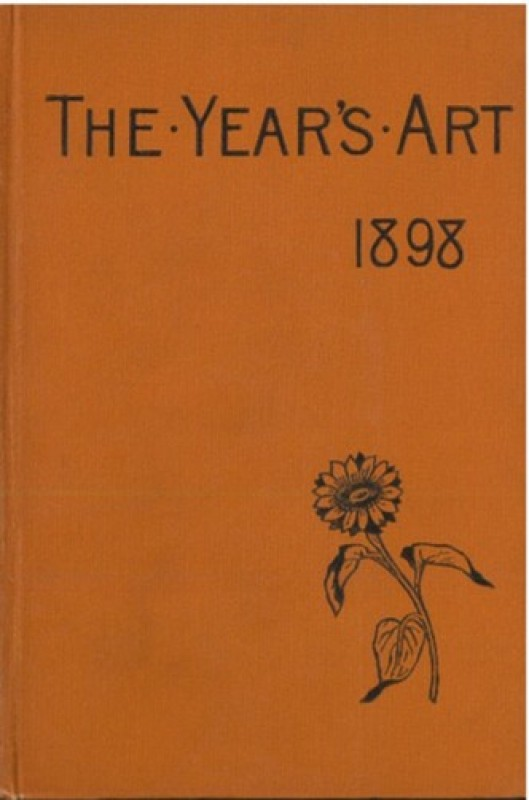 Front cover of a book in orange with small flower decoration