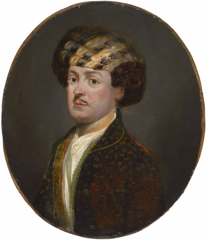 Major William Davy (d.1784), Bengal Army, Persian Secretary to the Governor-General, in Persian Dress, Tilly Kettle, National Army Museum