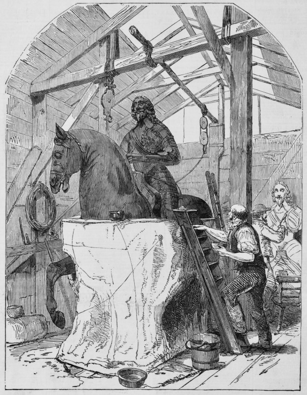 Anonymous, 'Taking a Plaster Cast of the Statue of Charles the First, at Charing Cross', Illustrated London News, 19 March 1853, wood engraving, 23 × 17.5 cm. Collection of the author.