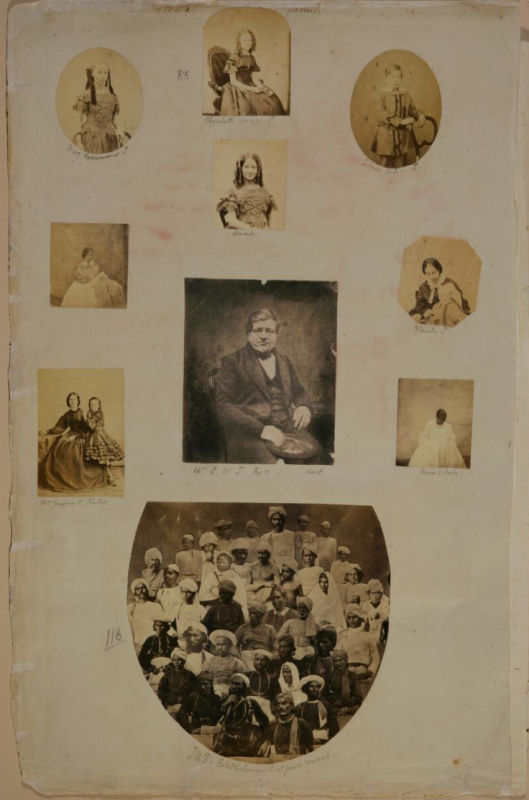 Dr John Nicolas Tresidder, JNT's Family, page five of The Tresidder Album (ca. 1858–64), albumen and salt-paper prints. Alkazi Collection of Photography  Digital image courtesy of The Alkazi Collection of Photography