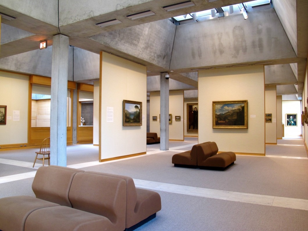 Interior of a gallery space