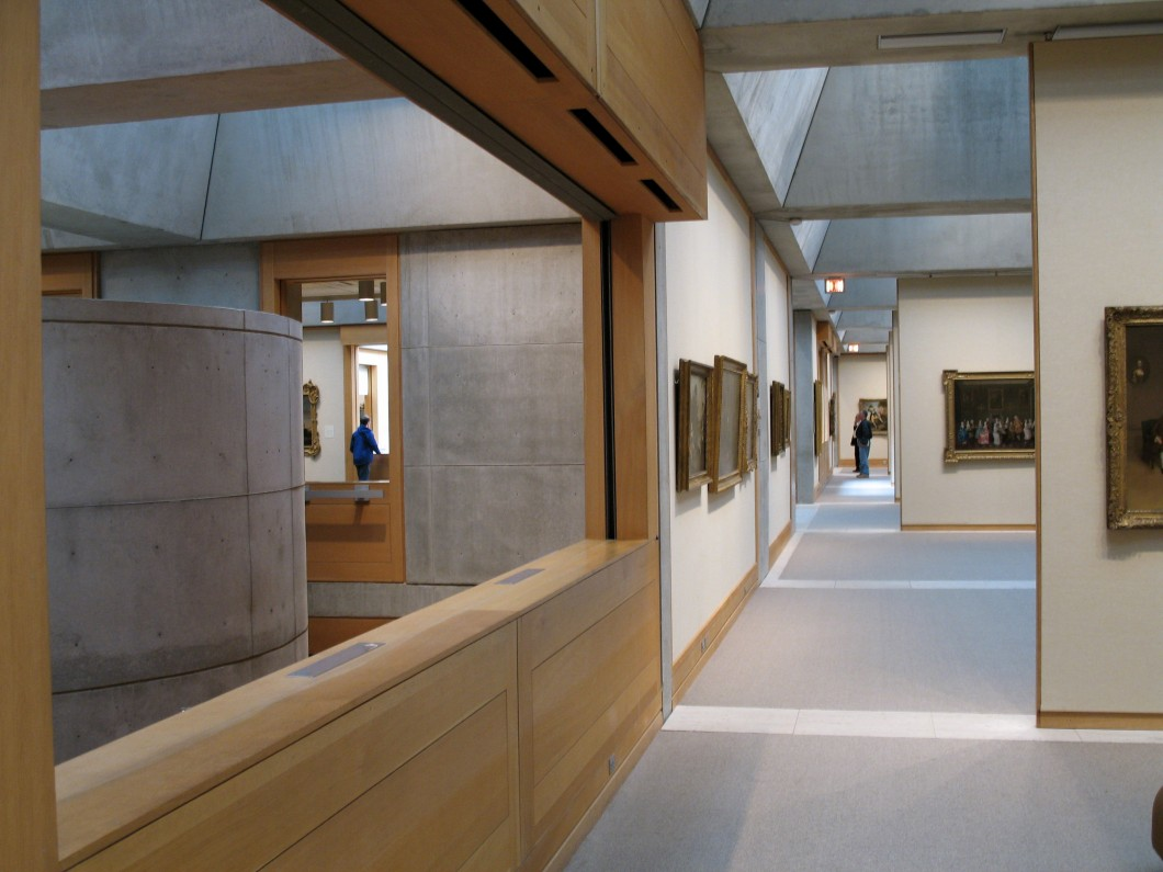 Interior of the Yale Center for British Art, New Haven, Connecticut