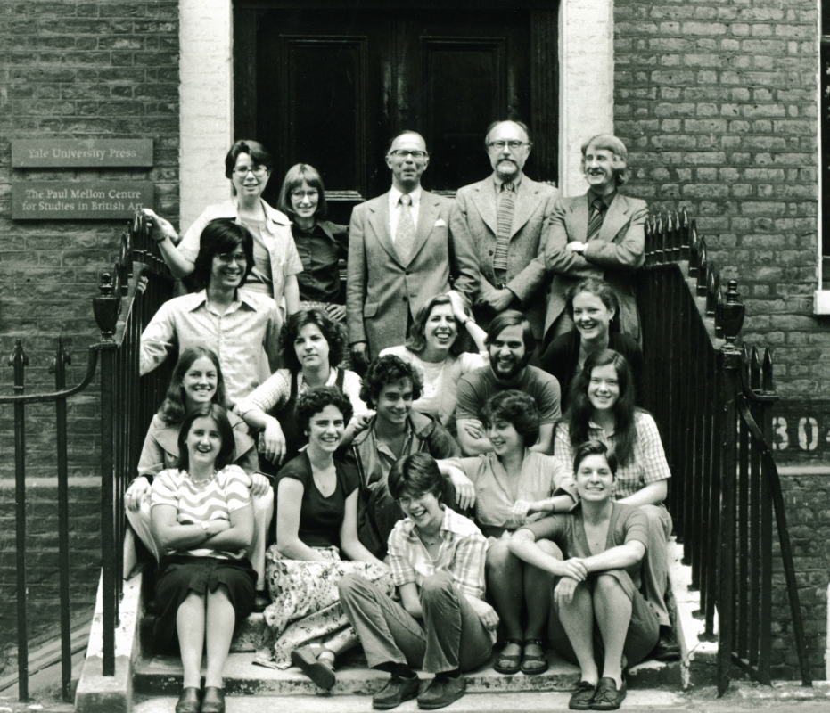 Yale in London Class of 1977 with faculty